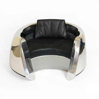 DC-9 JT8D Engine Cowling Chair - Leather Seat