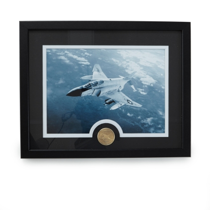 Centennial Heritage F-4 Phantom Framed Image and Bronze Coin