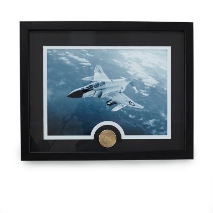 Centennial Heritage F-4 Phantom Framed Image and Bronze Coin