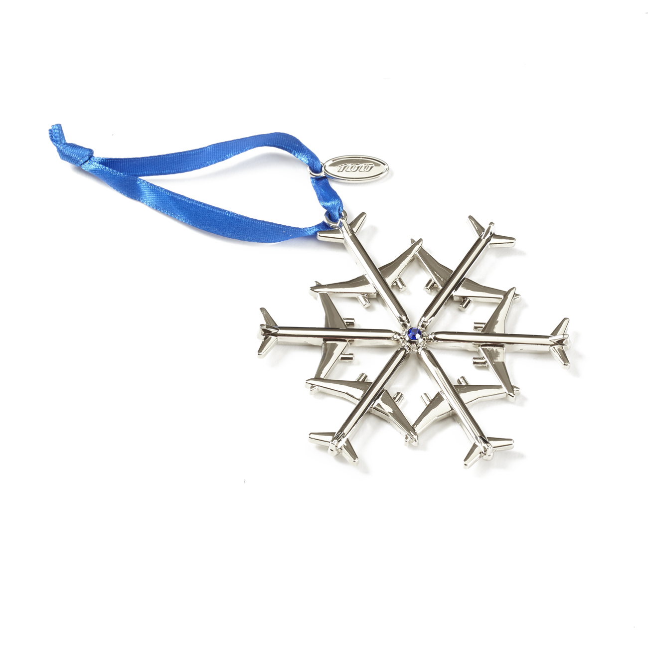 Jet Snowflake 2016 Waterford Nickel-Plated Ornament